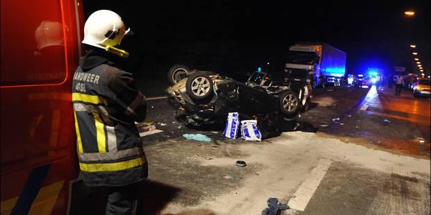 Un mort et trois blessés dans un grave accident sur le ring de Bruxelles - La DH