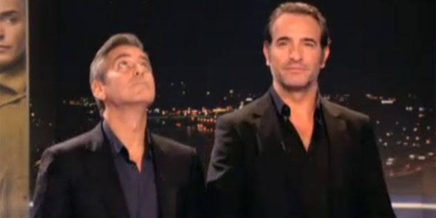 Clooney fait l 39 idiot avec dujardin avant le jt de tf1 la dh for Dujardin tf1