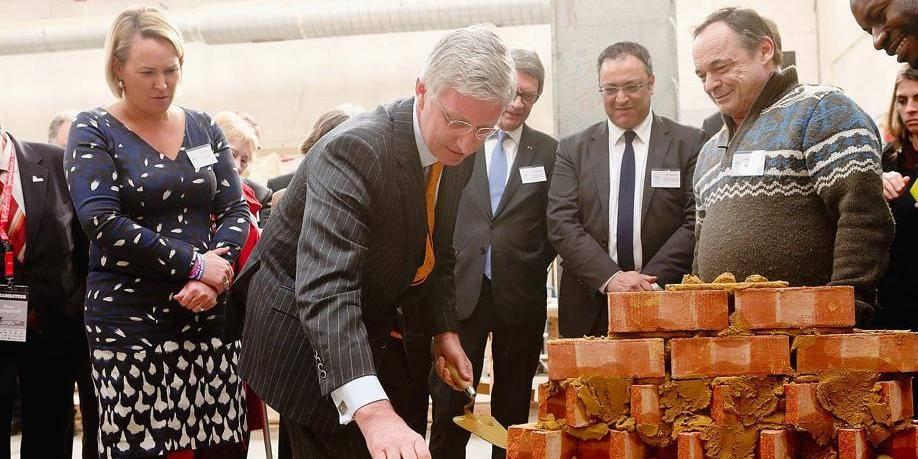 Le Roi Philippe en visite à Bruxelles Formation.
