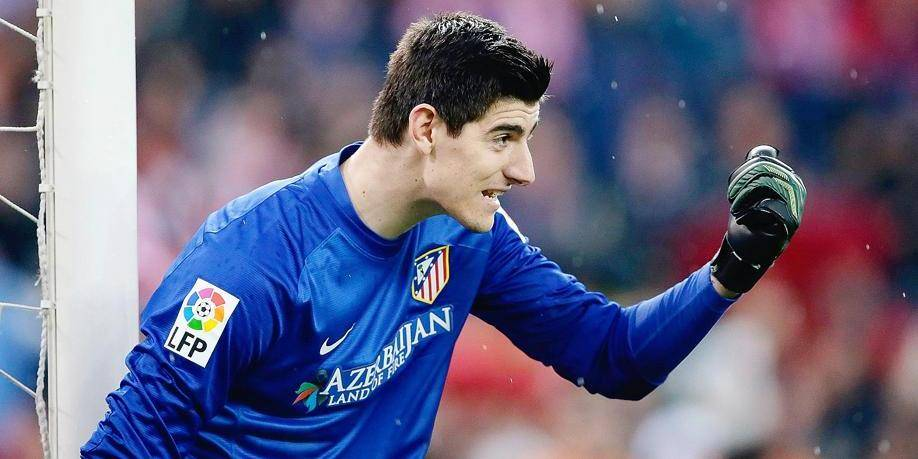 Thibaut Courtois of Atletico Madrid during the Spanish Primera División match between Atletico Madrid and Real Madrid at Estadio Vicente Calderón on march 2, 2014 in Madrid, Spain. © VI Images / PHOTO NEWS PICTURES NOT INCLUDED IN THE CONTRACTS
