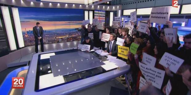 Le JT de France 2 brusquement interrompu par des manifestants - La DH