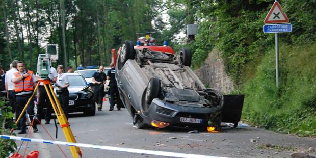 Walcourt: Un jeune homme de 34 ans s'est tu� dans un accident de voiture