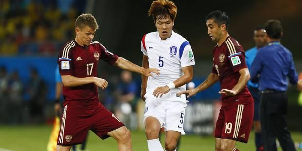 Russes et Sud-Coréens laissent la première place aux Diables (1-1)