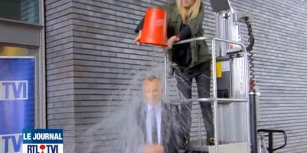 Ice bucket challenge: Luc Gilson se mouille en direct lors du JT - La DH