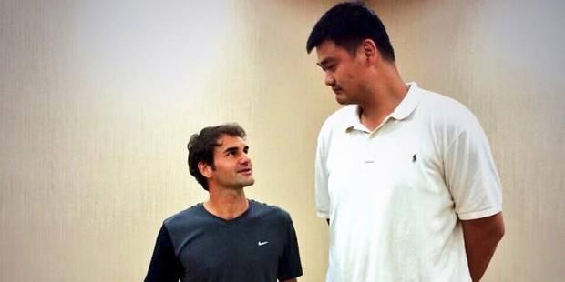 Quand Federer et Djokovic rendent plus de 40 centimètres à Yao Ming... - La DH