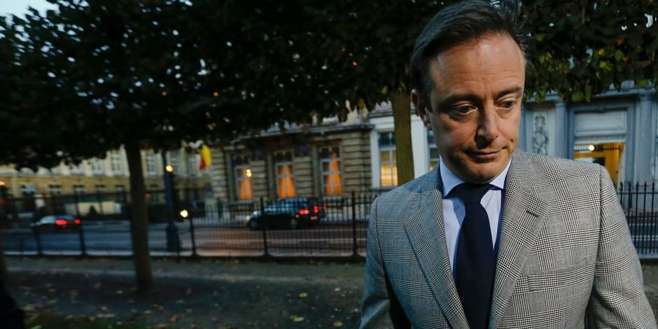 La plaque illégale de la Porsche de De Wever