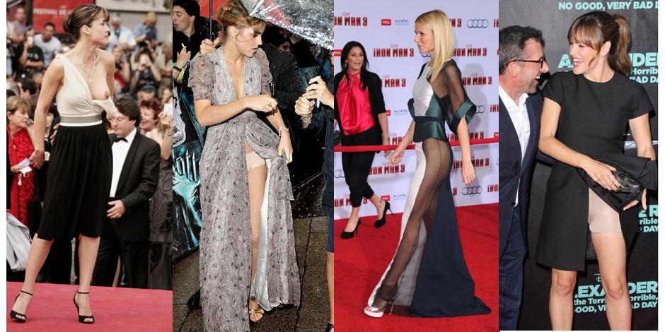 Une robe qui vole, une bretelle qui tombe... Quand les stars se dénudent contre leur gré