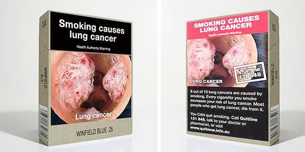 """Le paquet de cigarettes """"neutre"""" fait ses preuves"""