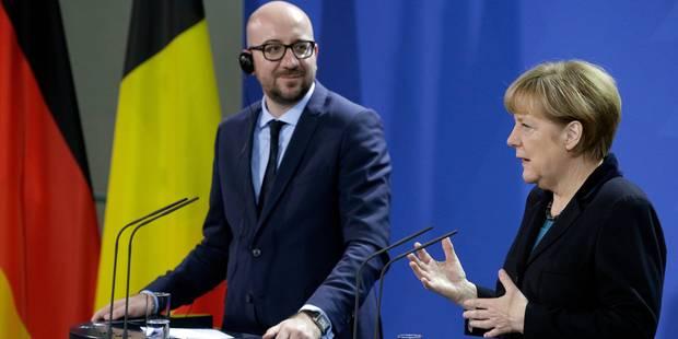 Charles Michel rassure Angela Merkel sur la stabilité de la Belgique - La DH