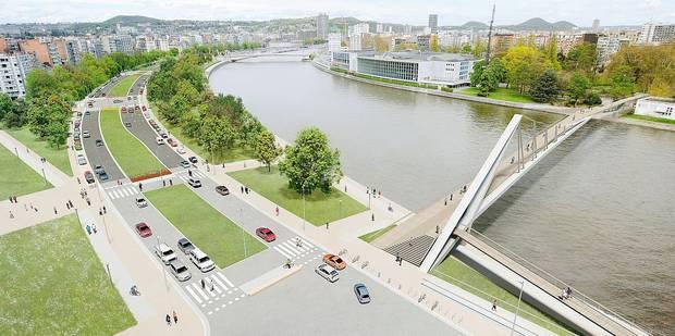 |Liège - la Meuse |Boulevard Frère Orban et Palais de Congrès