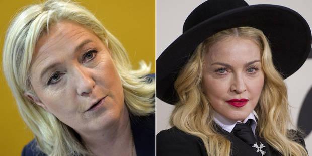 """Marine Le Pen """"accepte avec plaisir"""" une invitation de Madonna - La DH"""