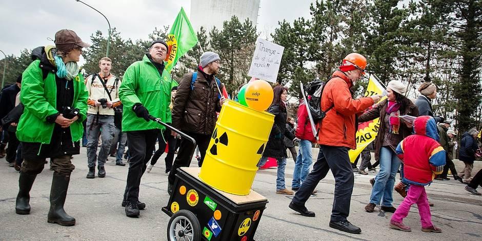 "Manifestation à Tihange: ""On ne veut pas d'un Fukushima"""