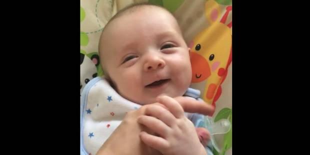 A sept semaines seulement, il dit «Hello » à sa maman - La DH