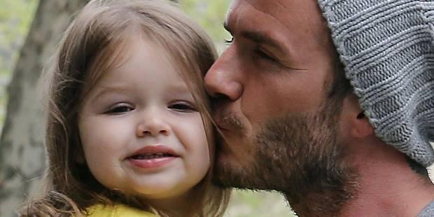 La petite Harper Beckham sur les traces de son papa, pas de Victoria ! - La DH