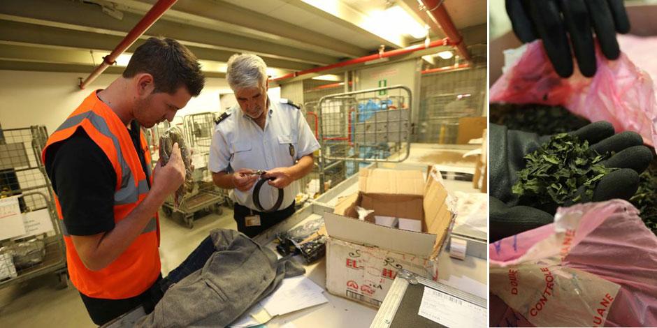 Crânes, contrefaçons, drogue: dans les coulisses des douanes de la poste - La DH