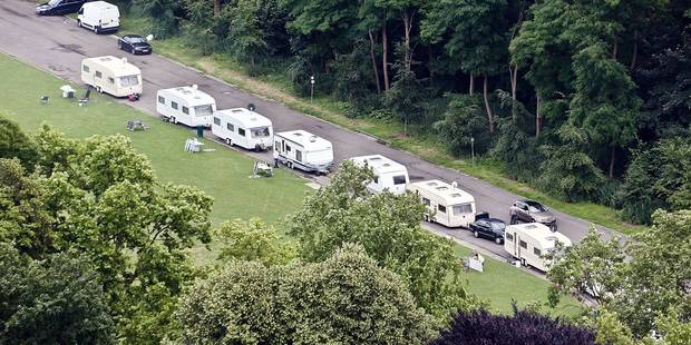 Une trentaine de caravanes près de l'Atomium - La DH