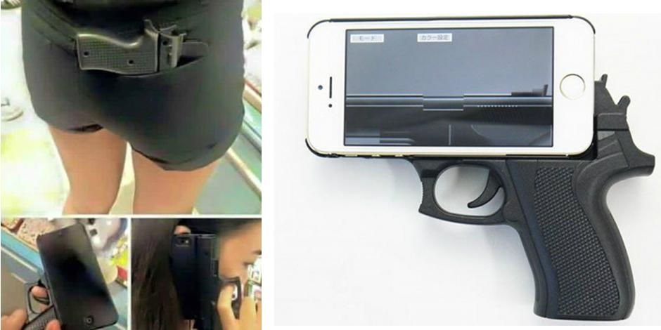 Une coque de smartphone en forme de pistolet sème la panique aux USA