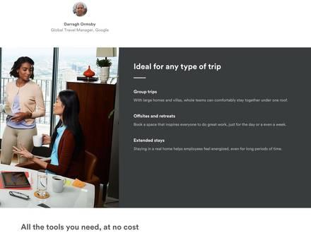 Airbnb a dévoilé un nouveau programme qui vise les entreprises et les voyageurs d'affaires.
