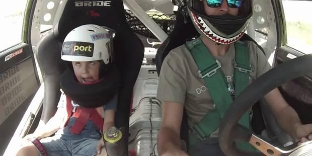 Il fait une séance de drift avec son enfant de 5 ans - La DH