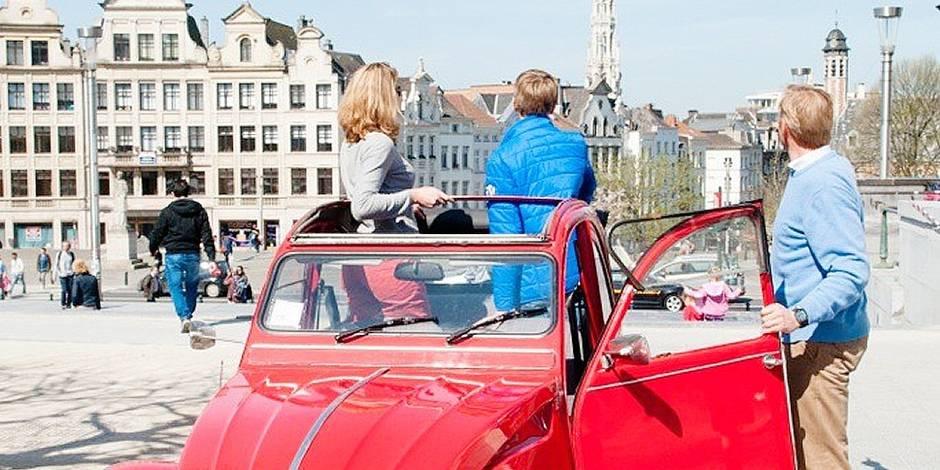 Visiter Bruxelles en 2 CV décapotable