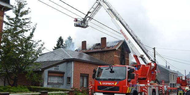 Violent incendie en plein centre de Hotton - La DH