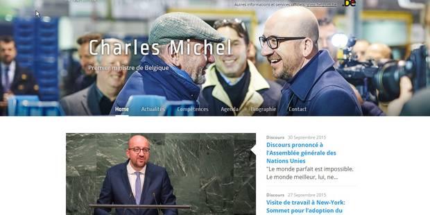 Le site internet du Premier ministre Charles Michel piraté - La DH