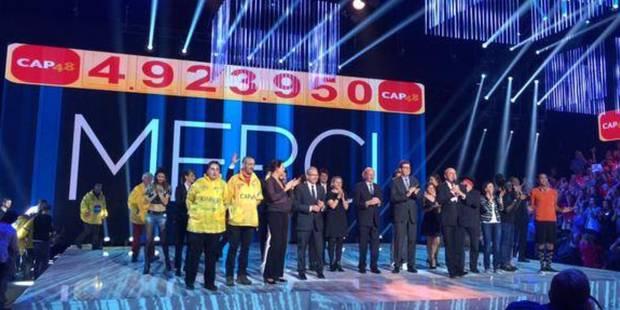 4.923.950 euros: défi relevé pour Cap 48! - La DH