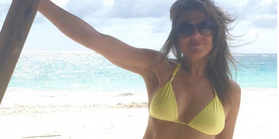 A 50 ans, Elizabeth Hurley affole la toile en bikini (PHOTOS)