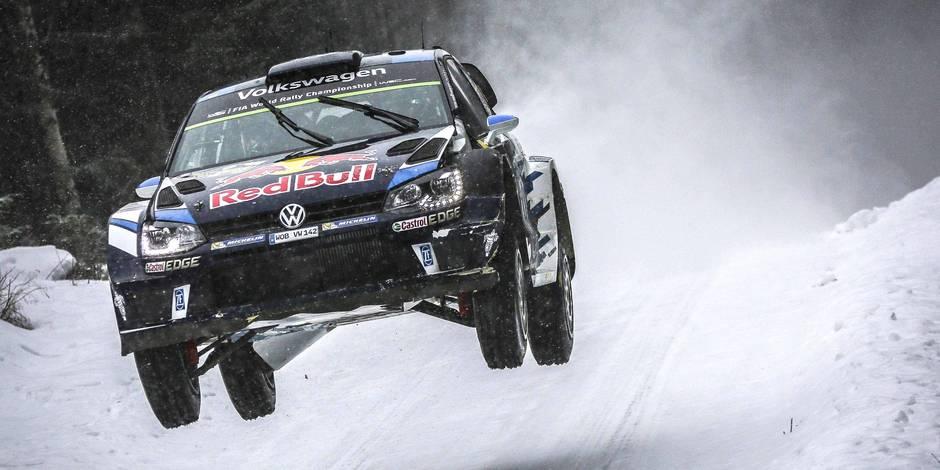 Rallye de Suède: Sébastien Ogier reste en tête, Thierry Neuville 14e