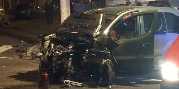 La Louvière: violent accident de voiture, un blessé grave