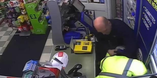 Un braqueur armé maîtrisé par un client (VIDEO) - La DH