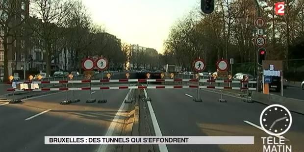 """France 2 s'intéresse aux tunnels bruxellois qui """"tombent en ruine"""" - La DH"""