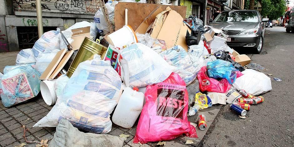 Charleroi: 10.000 tonnes de détritus ramassées chaque année