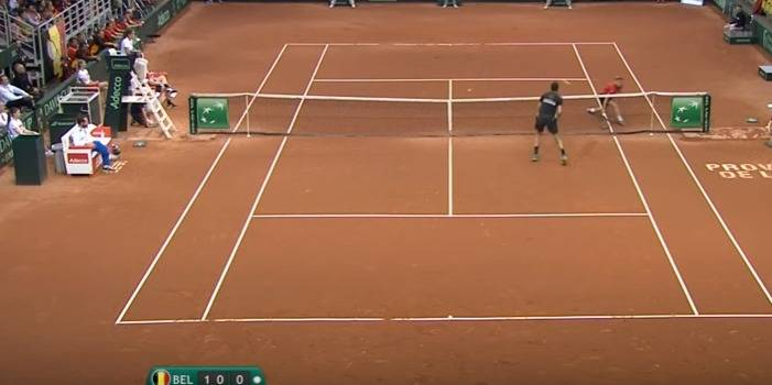 Le lob génial de David Goffin contre Marin Cilic (VIDEO)