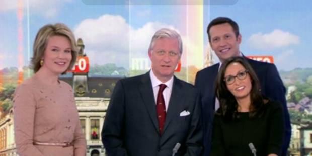 Quand le Roi Philippe présente le journal de RTL-TVI - La DH