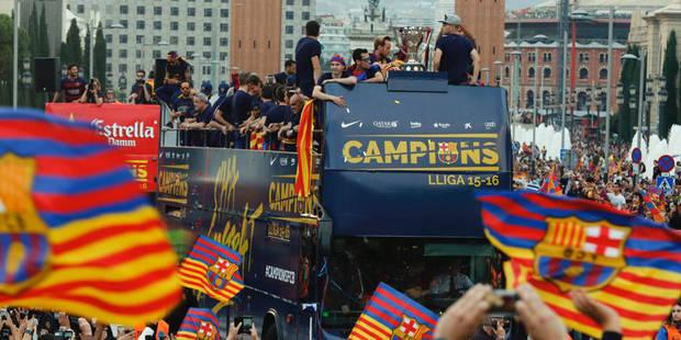 Barcelone fait sa fête à ses joueurs