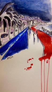 EN IMAGES - Attentat à Nice: des dessins pour rendre hommage aux victimes. 57888e48357086b3e0d15bb7