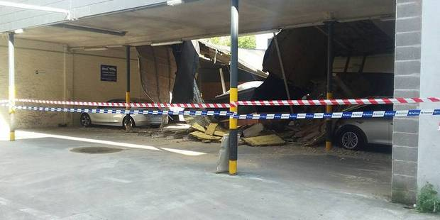 Le toit du parking du Brico situé à Ixelles s'est effondré ! - La DH