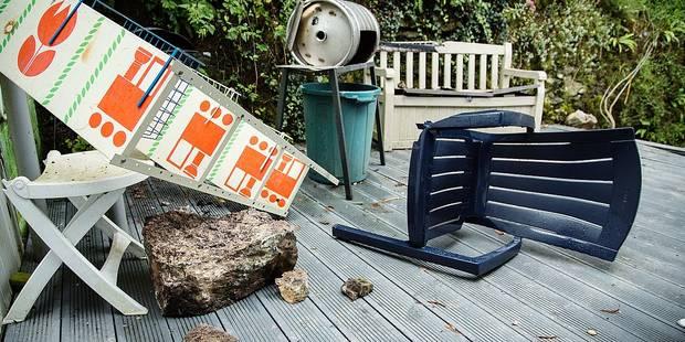 Comblain-au-Pont : Un énorme rocher tombe sur sa terrasse - La DH