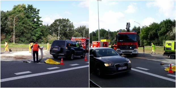 Accident sur la E411: toujours des files sur plusieurs kilom�tres � hauteur de Bierges