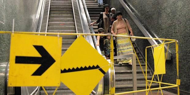 Stib: en moyenne 115 arrêts d'escalator par jour - La DH