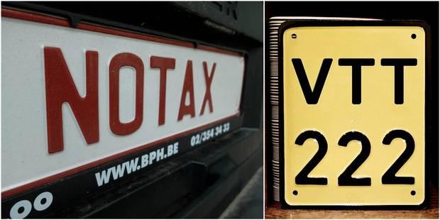 Des plaques personnalisées aussi pour les motos et camions - La DH