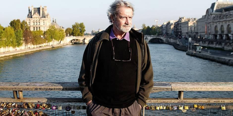 Paris - Quartier Saint-Germain-des-Prés: Roger Van Hool - acteur belge ayant tourné avec Deneuve, Truffaut ou encore André Delvaux est en itw pour la DH