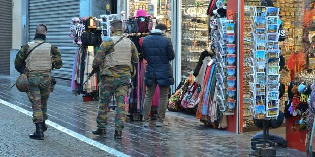 Menace terroriste: il y aura bientôt moins de militaires en rue - La DH