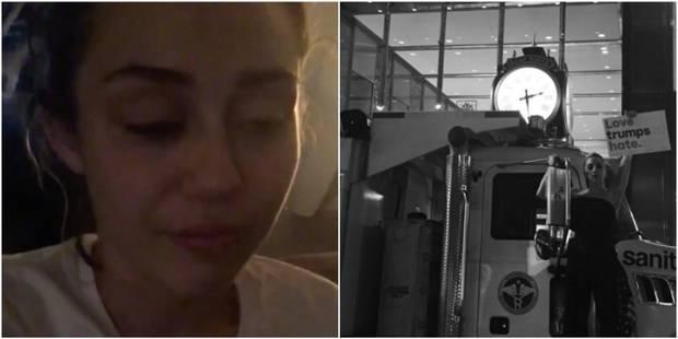 Miley Cyrus en larmes, lettre poignante de Jennifer Lawrence: Hollywood sous le choc de la victoire de Trump (PHOTOS + V...