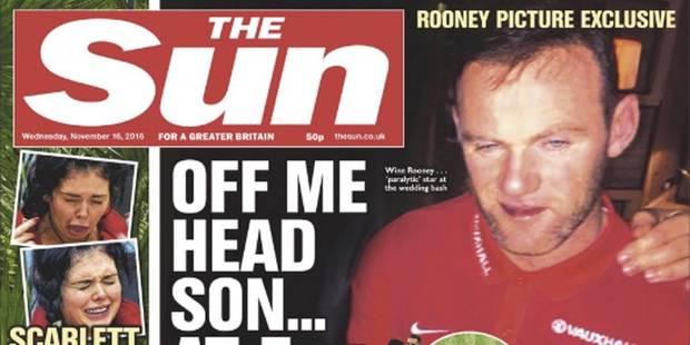 Quand un Wayne Rooney complètement saoul fait scandale en Une des journaux (PHOTOS) - La DH
