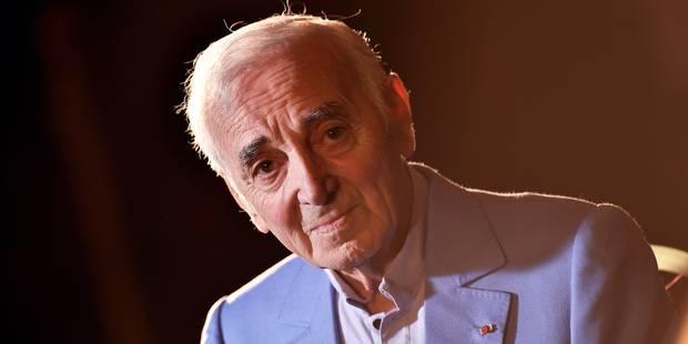 """Charles Aznavour donnera """"son dernier concert sur le sol belge"""" à Anvers - La DH"""