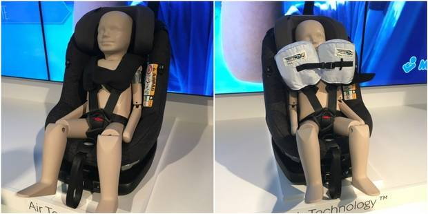 Bébé Confort invente le siège auto pour enfant avec airbag - La DH