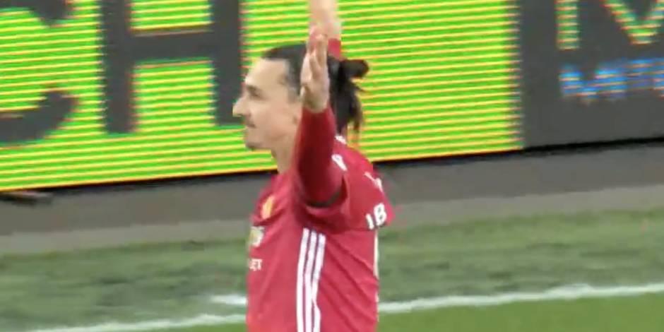 Lob, barre, poteau et finalement but pour Zlatan