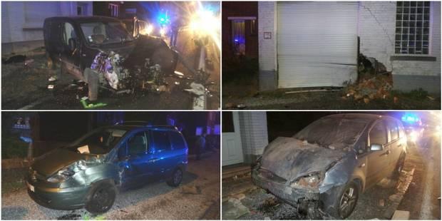 Une camionnette percute deux voitures et une façade à Souvret - La DH